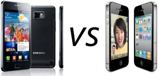 Samsung Galaxy s2  kontra iphone 4s